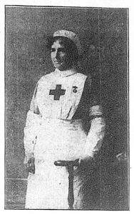 Mary Sharpe as a Red Cross nurse
