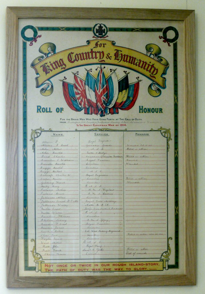 Bottesford WW1 Roll of Honour