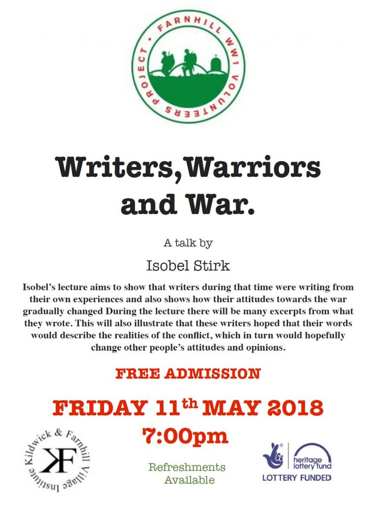 War literature talk poster