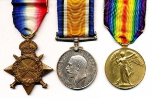 Pip, Squeak and Wilfred - WW1 campaign medals